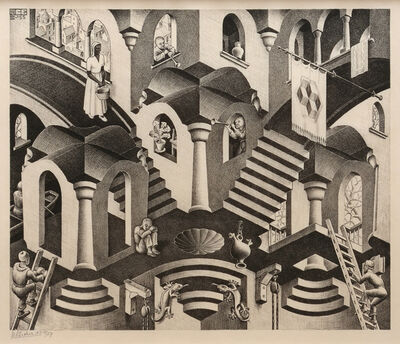 Maurits Cornelis Escher, 'Convex and Concave', 1955