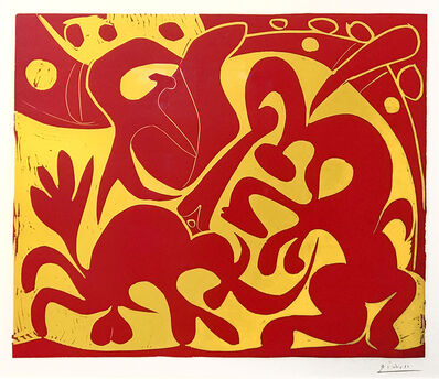Pablo Picasso, 'La Pique en Rouge et Jaune (The Bullfight in Red and Yellow)', 1959