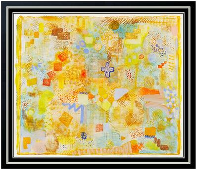 Robert Natkin, 'ROBERT NATKIN Original Acrylic PAINTING Abstract Art Rare SIGNED BY HIM 4 TIMES', 20th Century