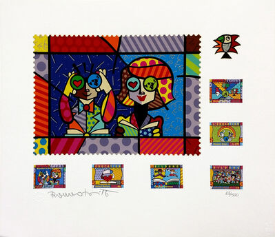 Romero Britto, 'EDUCATING THE WORLD', 2000
