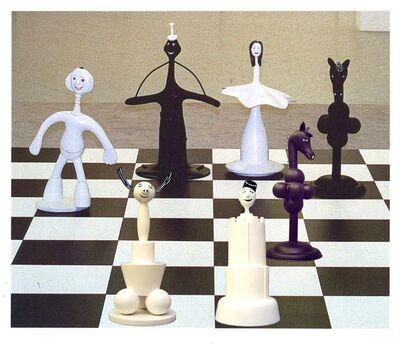 Thaddäus Hüppi, 'Chessmen, 32 figures', 1999