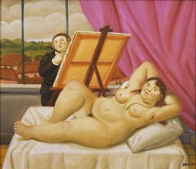 Fernando Botero, 'Painter and Model', 1998
