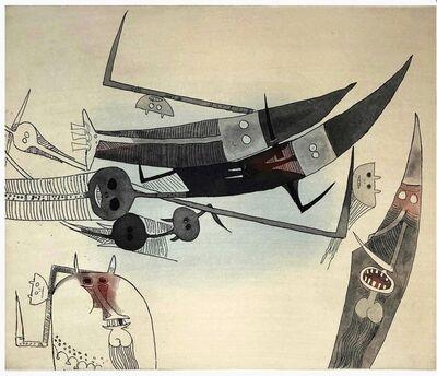 Wifredo Lam, 'Sans titre - XXe siecle plate #2', 1977