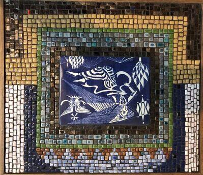 David Holleman, 'Rare Vintage Judaica Tile Mosaic with Sgraffito Hebrew Calligraphy', 20th Century