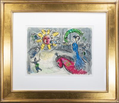 Marc Chagall, 'Soleil au Cheval Rouge (Sun with Red Horse), M 945', 1979