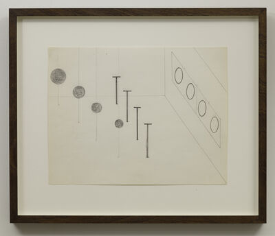 "Nancy Holt, 'Untitled (Study for ""Locator with Loci"")', 1972"