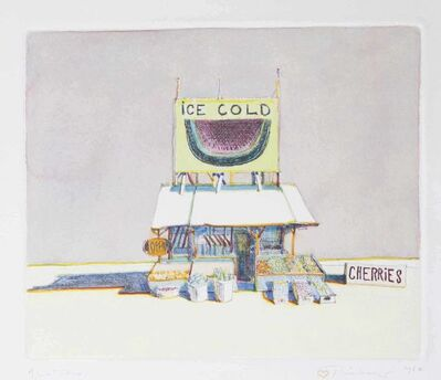 Wayne Thiebaud, 'Cherry Stand, from: Delights', 1964