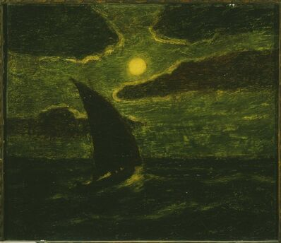 Albert Pinkham Ryder, 'Sailing by Moonlight'