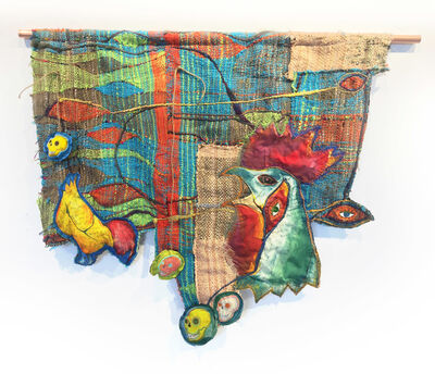 Juliet Martin, 'Textile Handwoven Wall Hanging: 'Roost'', 2019