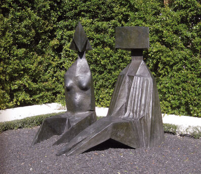 Lynn Chadwick, 'Two Seated Figures I', 1973