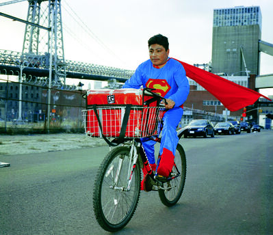 Dulce Pinzon, 'NOE REYES from the State of Puebla works as a delivery boy in Brooklyn, New York. He sends 500 dollars a week.', 2010