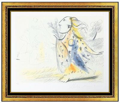 Pablo Picasso, 'Pablo Picasso Color Lithograph Minotaure Female Portrait Signed Marina Artwork', 1979