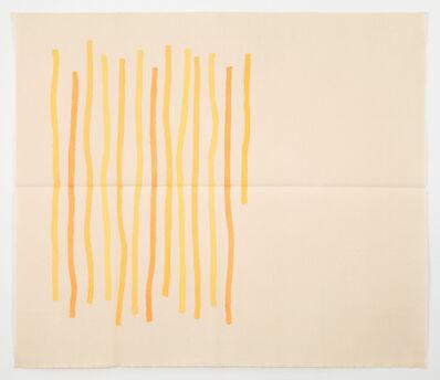 Giorgio Griffa, 'Quasi Verticale Giallo', 1976