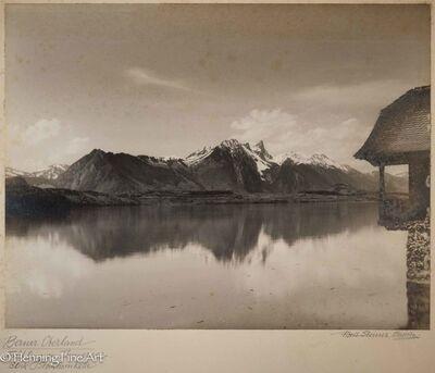 "Albert Steiner, '""Berner Oberland. Fruhling am Thunersee. - Blick Stockhornkette.""  (""Bernese Oberland. Spring at Lake Thun. - View Stockhornkette. "")', 1925-1950"