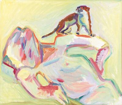 Maria Lassnig, 'Ich bin der Hl. Franziskus der Waldtiere', 1995/1996