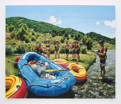 Joey Wolf, 'Beers on the river', 2017
