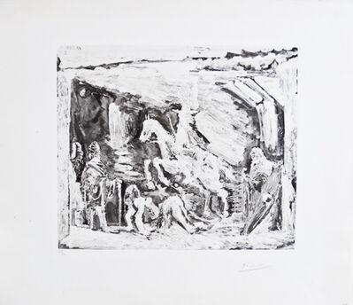 Pablo Picasso, 'Rapt avec Celestine, ruffian, fille et seigneur avec son valet ', 1968