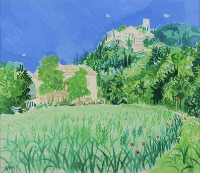 Nicholas Hely Hutchinson, 'Provencal landscape with hilltop village', 1987