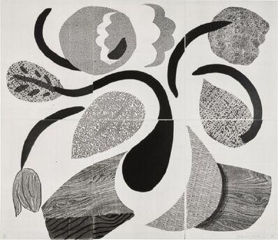 David Hockney, 'Dancing flowers (signed)', 1986