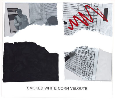 John Baldessari, 'Morsels And Snippets: Smoked White Corn Veloute', 2013