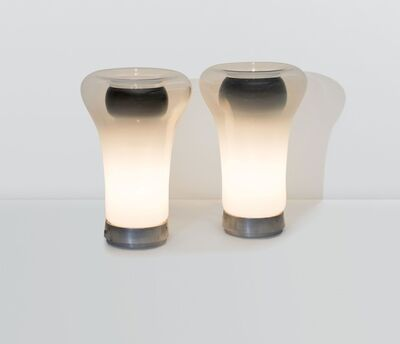 Angelo Mangiarotti, 'a pair of Saffo table lamps', 1967