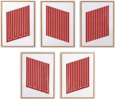 Donald Judd, 'Untitled: Five Prints (Schellmann 38, 41, 42, 61 & 62)', 1961-9