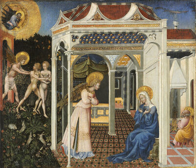 Giovanni di Paolo, 'The Annunciation and Expulsion from Paradise', ca. 1435