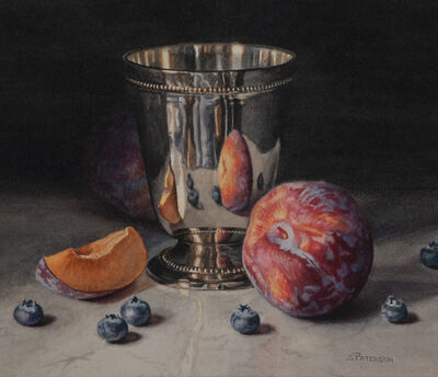 Susan Paterson, 'Plums and Blueberries', 2019