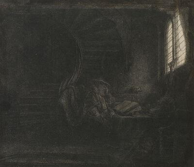 Rembrandt van Rijn, 'Saint Jerome in a Dark Chamber', 1642