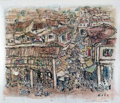 Lim Tze Peng, 'Bustling Streets of Chinatown', 2013