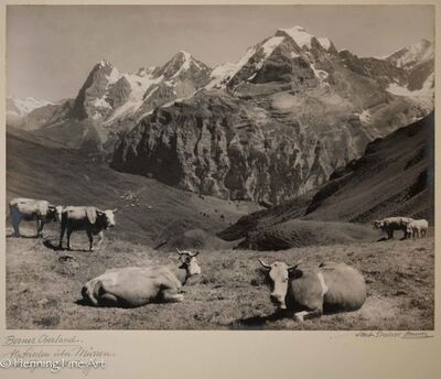 "Albert Steiner, '""Berner Oberland. Alpfrieden uber Murren -Eiger-Monch-Jungfrau.-""  (""Bernese Oberland. Alpfrieden about Murren -Eiger-Monch-Jungfrau.- "")', 1925-1950"