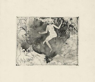Emil Nolde, 'Der Tod als Tänzerin', 1918
