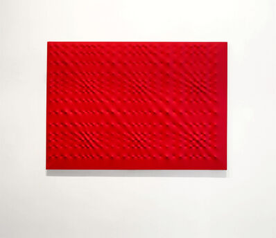 Enrico Castellani, 'Superficie rossa', 1999