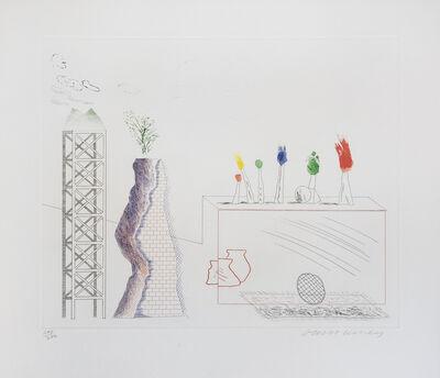 David Hockney, 'A Tune, from The Blue Guitar portfolio', 1977