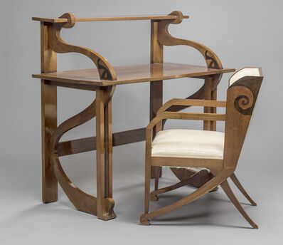 Federico Tesio, 'Bureau et fauteuil (Desk and chair)', 1898