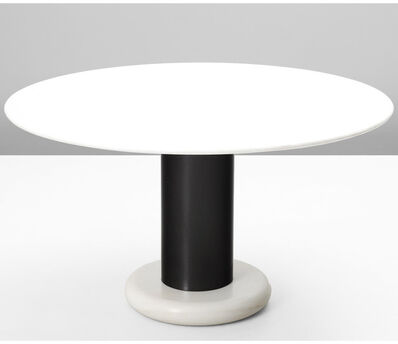Ettore Sottsass, 'White Marble Pedestal Dining Table', 1965