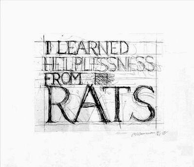 Bruce Nauman, 'Learned Helplessness from Rats', 1988