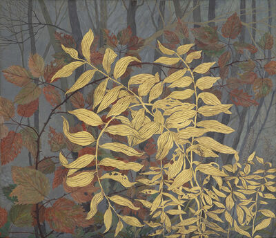 Gary Milek, 'Autumn Solomon Seal and Raspberry Leaves', 2020