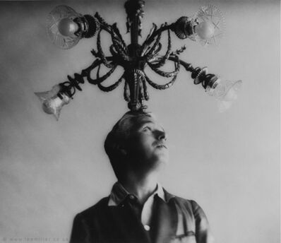 Lee Miller, 'Charlie Chaplin with chandelier, Paris, France', 1931