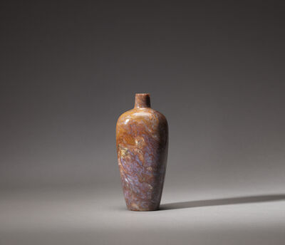 Unknown Chinese, 'A mottled mauve and russet agate 'meiping' bottle vase', 18th/19th century