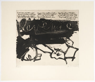 Willem de Kooning, 'Revenge, from 21 Etchings and Poems', 1960