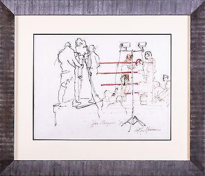 LeRoy Neiman, 'Original Rare Leroy Neiman Painting Joe Frazier 1971 Champion Muhammad Ali', 1971