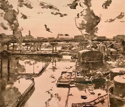 Derek Buckner, 'Scrap Metal Yard, Canal', 2017