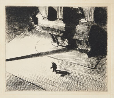 Edward Hopper, 'Night Shadows, from Six American Etchings (Series I)', 1921