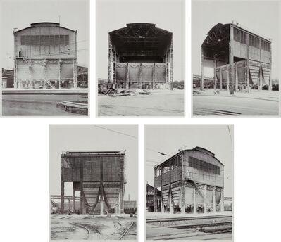 Bernd and Hilla Becher, '5 Ansichten eines Kalksilos in Duisburg-Ruhrort Suite', 1974