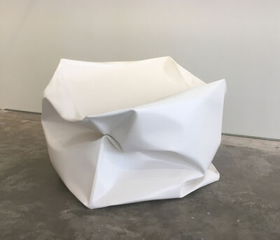 Alyson Shotz, 'Crushed Cube (White)', 2018