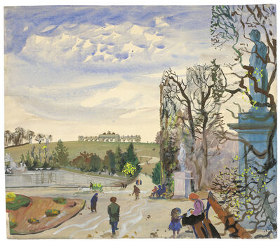 Oskar Laske, 'Schönbrunn with View of the Gloriette'