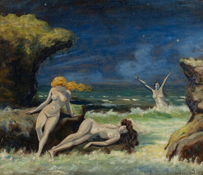 Louis Michel Eilshemius, 'Nude Women on the Beach', 1907