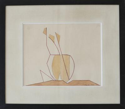 Andre Beaudin, 'Trois feuilles jaunes', 1948