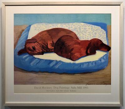David Hockney, 'Hand Signed Dog 43', 1995